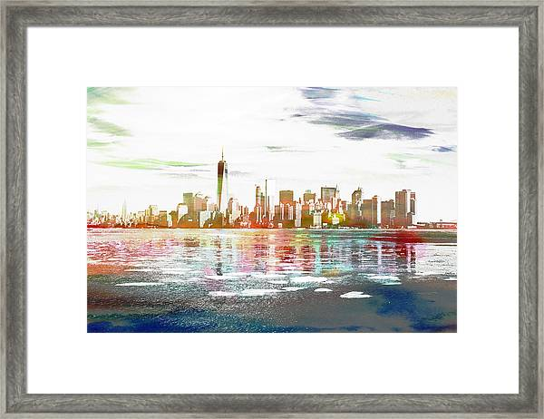 Skyline Of New York City, United States Framed Print