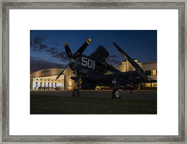 Skyraider Night Framed Print