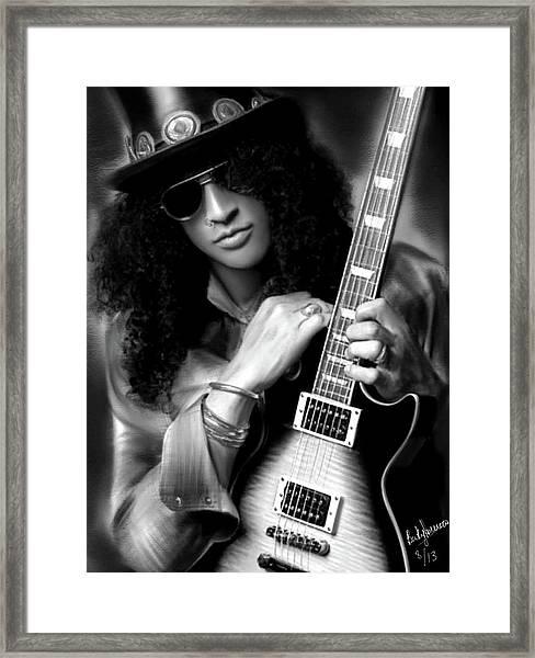 Slash From Guns N Roses Framed Print
