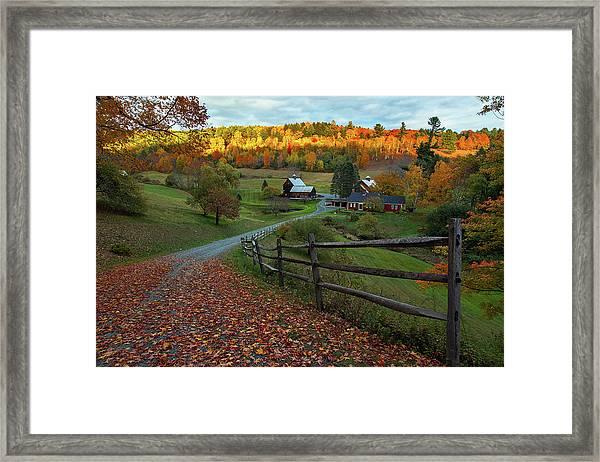 Sleepy Hollow Farm- Pomfret Vt Framed Print