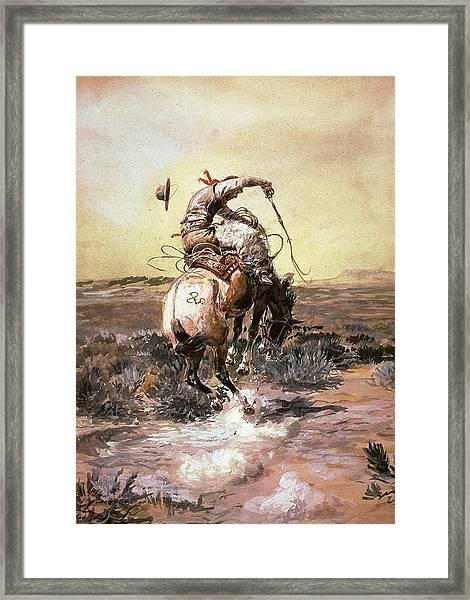 Slick Rider Framed Print