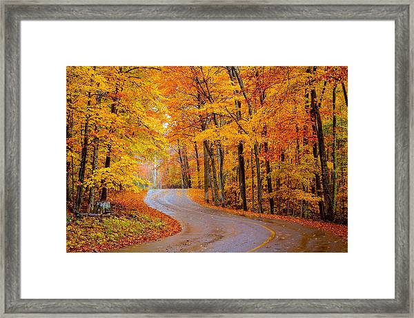 Slippery Color Framed Print
