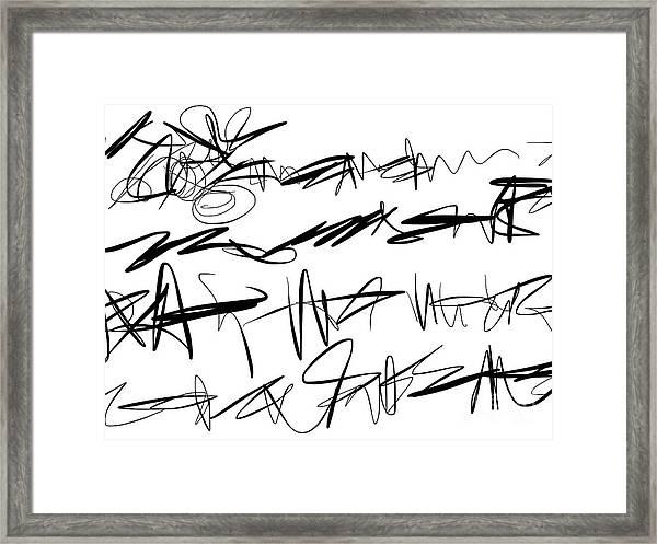 Sloppy Writing Framed Print