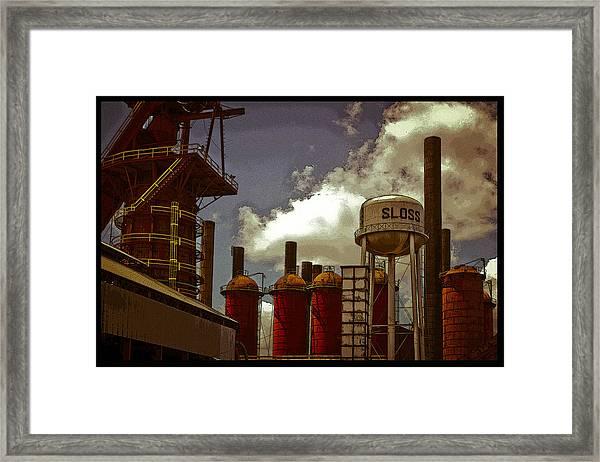 Sloss Furnace Poster Framed Print
