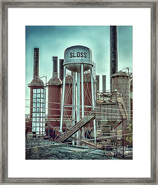 Sloss Furnaces Tower 3 Framed Print