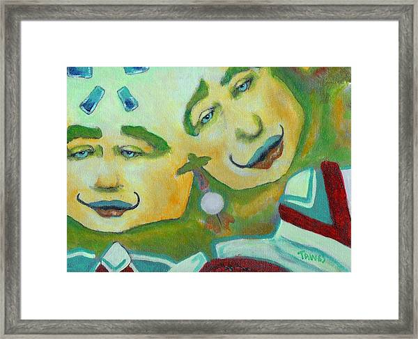 Slow Down To Catch Up To Me Framed Print