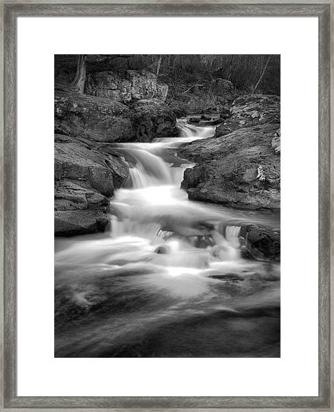 Slow Me Down The River Framed Print