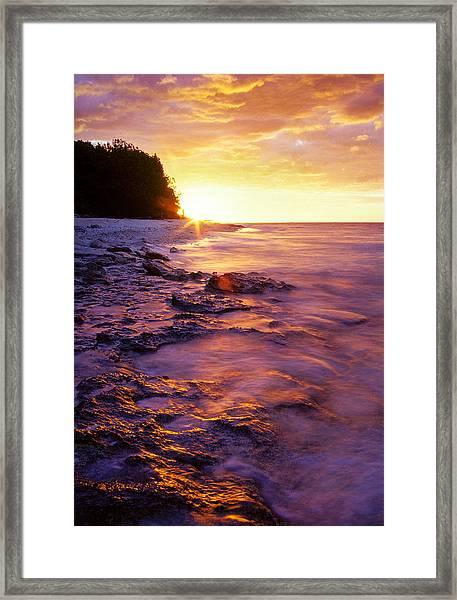 Slow Ocean Sunset Framed Print