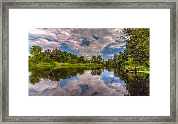 Slow River Reflections Framed Print