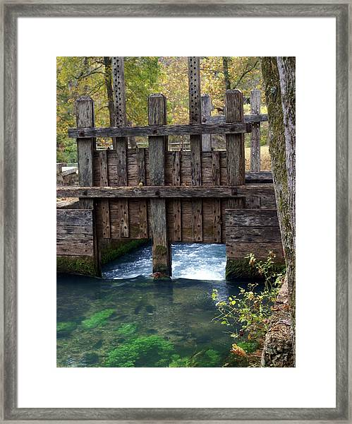 Sluce Gate Framed Print