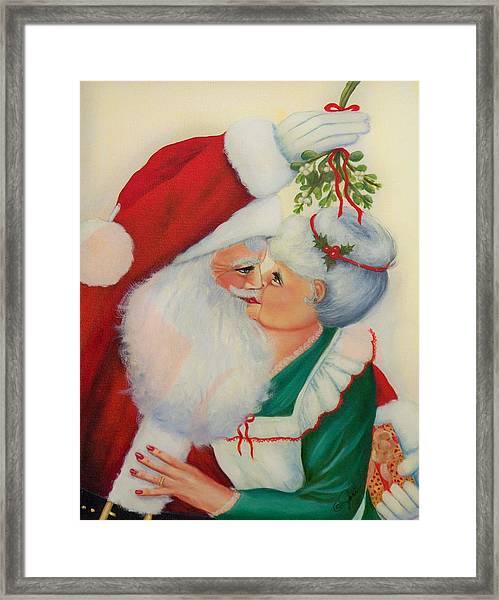 Sly Santa Framed Print