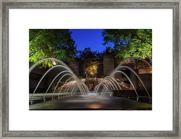 Small Fountain Framed Print