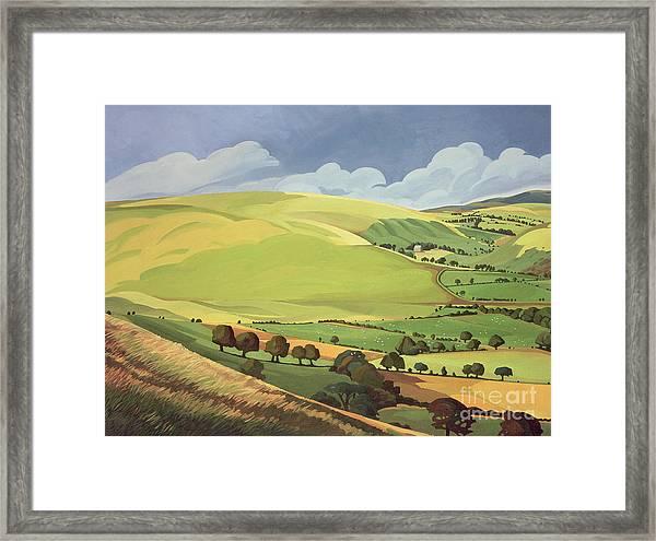 Small Green Valley Framed Print