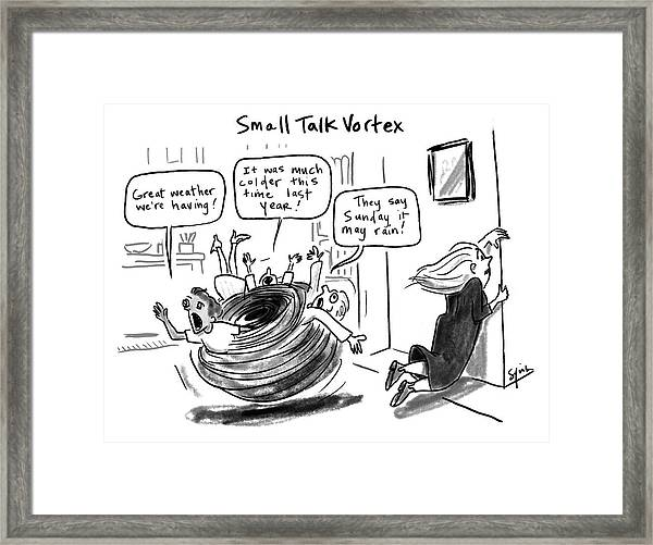 Small Talk Vortex Framed Print