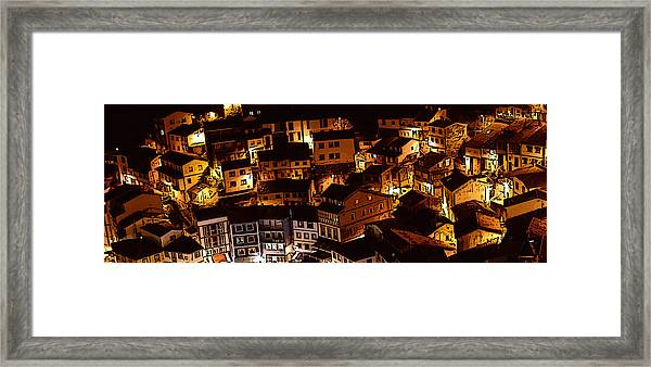 Small Village Framed Print