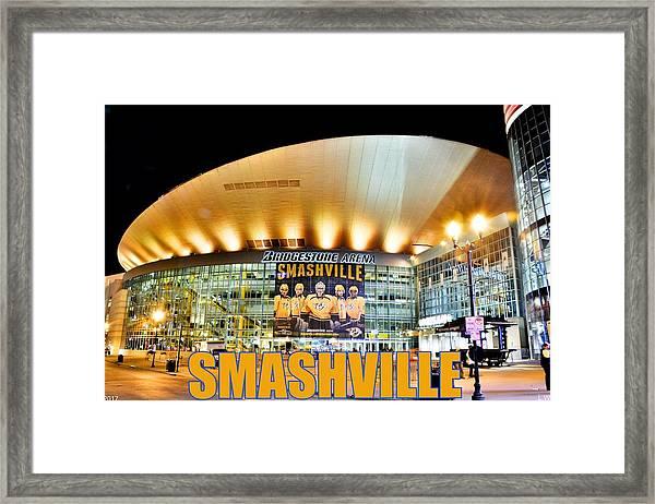 Smashville Framed Print