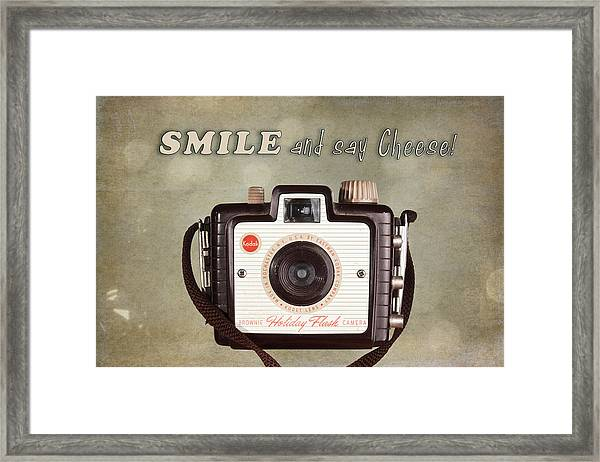 Smile And Say Cheese Framed Print
