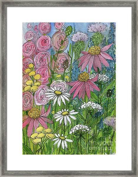 Smiling Flowers Framed Print