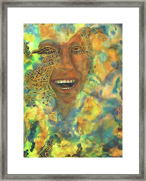 Smiling Muse No. 3 Framed Print
