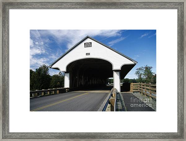 Smith Covered Bridge - Plymouth New Hampshire Usa Framed Print