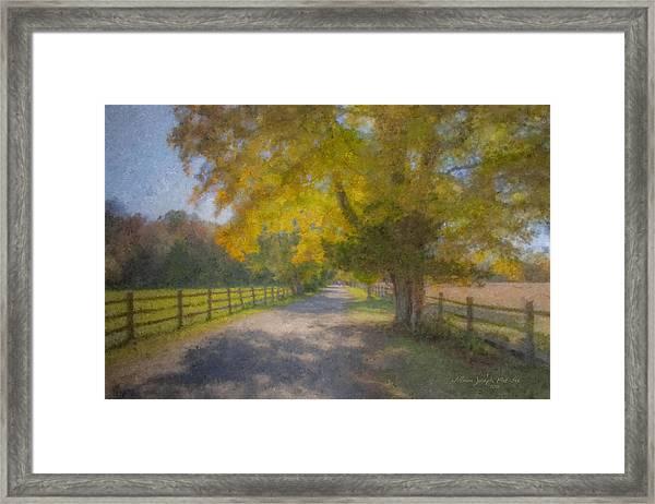 Smith Farm October Glory Framed Print