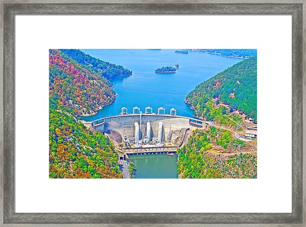 Smith Mountain Lake Dam Framed Print