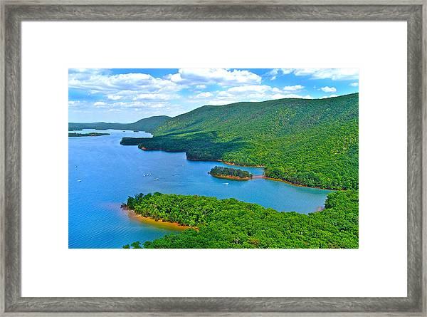 Smith Mountain Lake Poker Run Framed Print