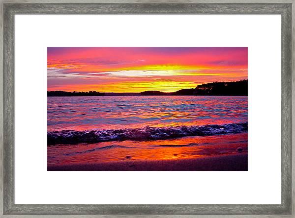 Smith Mountain Lake Surreal Sunset Framed Print