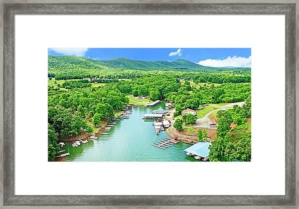 Smith Mountain Lake, Virginia. Framed Print