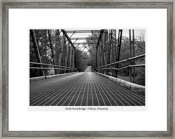 Smith Road Bridge  Framed Print