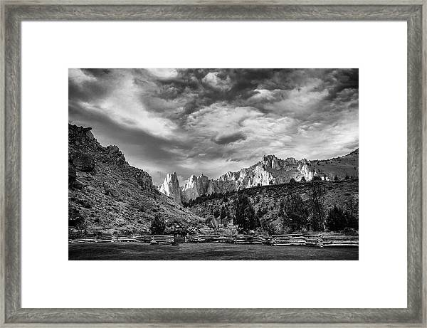 Smith Rock Bw Framed Print