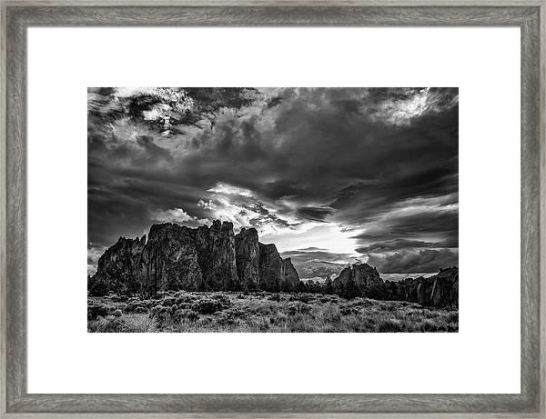 Smith Rock Fury Framed Print