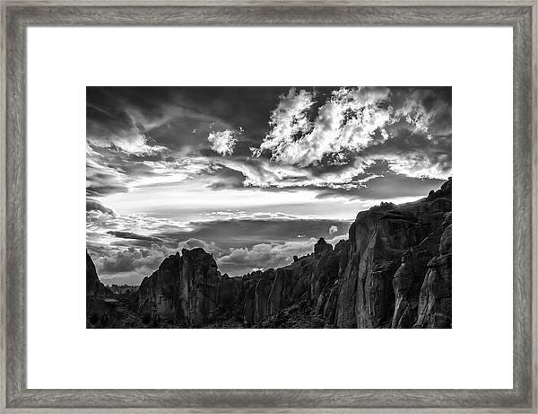 Smith Rock Skies Framed Print