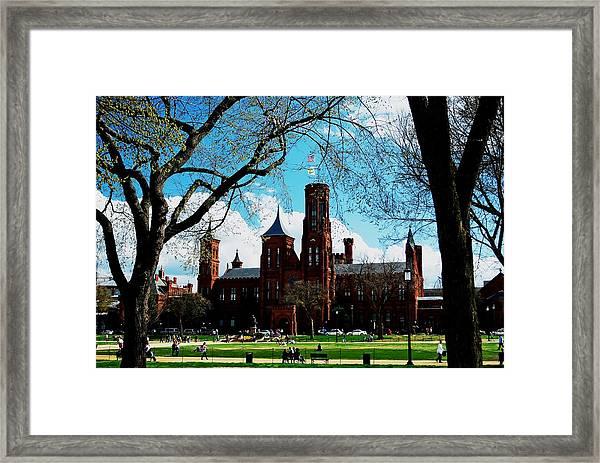 Smithsonian In The Spring Framed Print