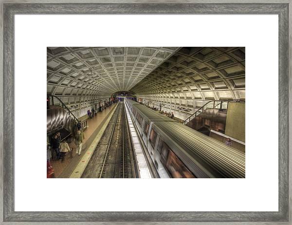 Smithsonian Metro Station Framed Print