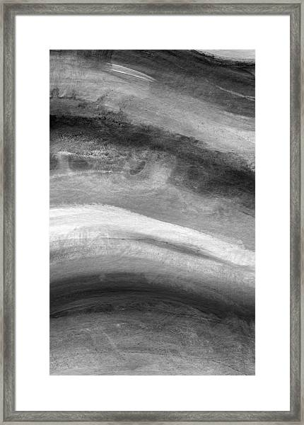 Smoke- Abstract Art By Linda Woods Framed Print