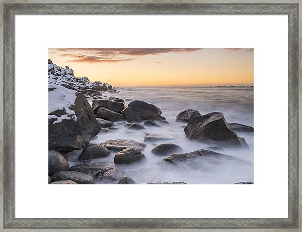 Smoke On The Water Framed Print by Timm Chapman
