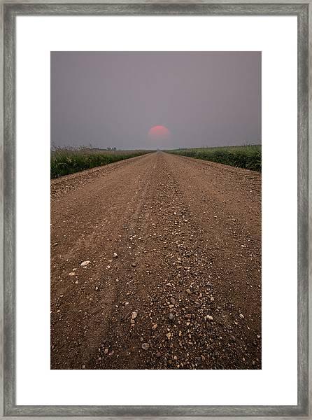 Smokey Road To Nowhere Framed Print