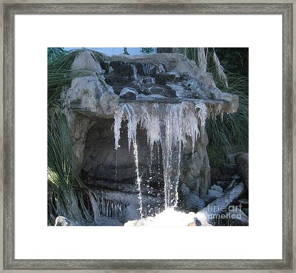 Smokey Stoves Frozen Falls Framed Print