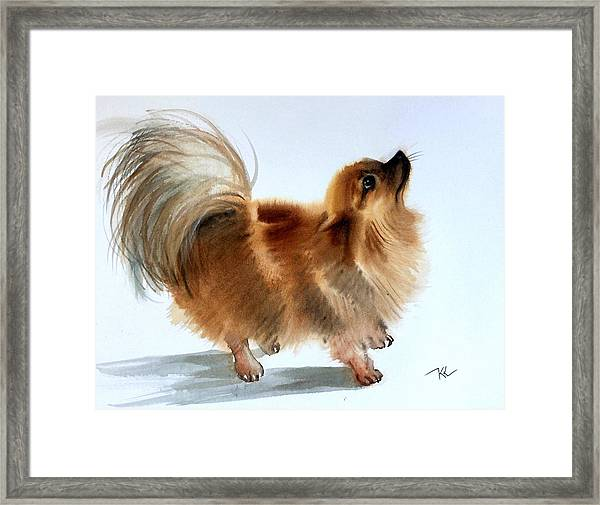 Framed Print featuring the painting Smokey2 by Katerina Kovatcheva