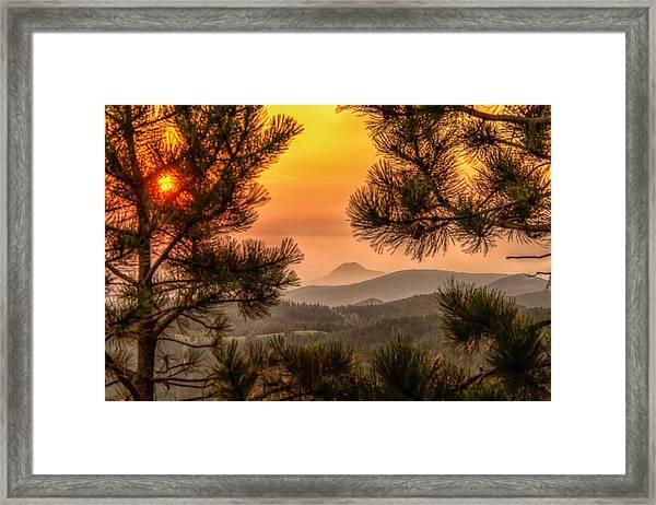 Smoky Black Hills Sunrise Framed Print