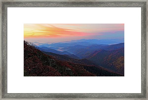 Dawn From Standing Indian Mountain Framed Print