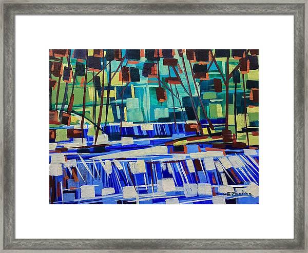 Smooth Flow Framed Print