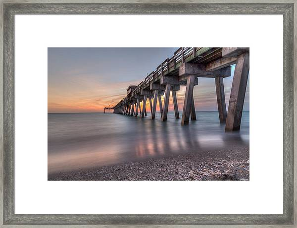 Smooth Sunset Framed Print