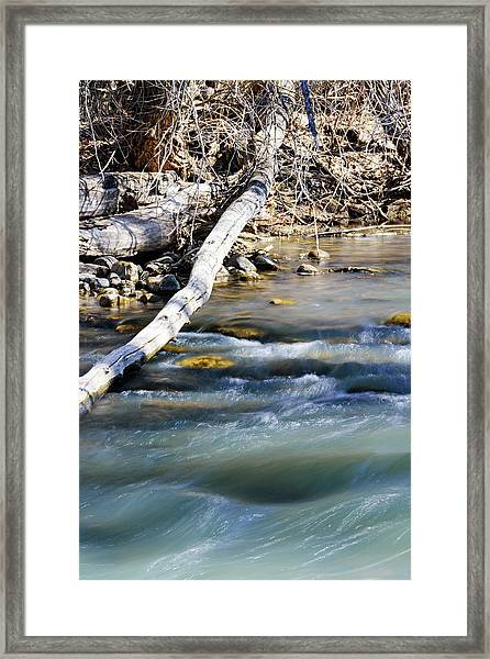 Smooth Water Framed Print
