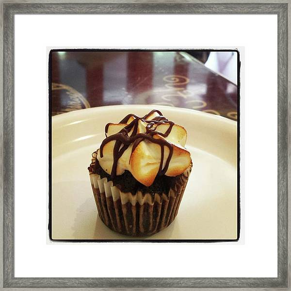 Framed Print featuring the photograph smore Miniature Cupcake N Coffee by Mr Photojimsf