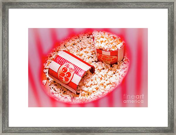 Snack Bar Pop Corn Framed Print