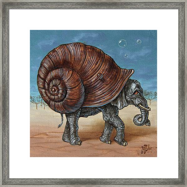Snailephant Framed Print