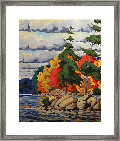 Snake Island In Fall-close Framed Print