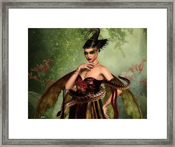 Snake Queen 002 Framed Print